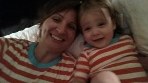 Matching Pajamas make everything cool.