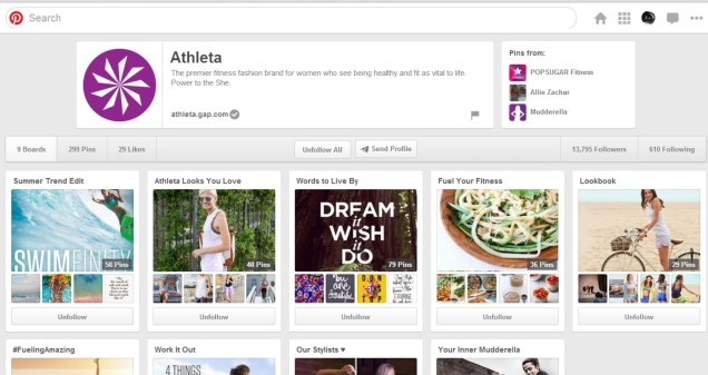 Athleta Pinterest