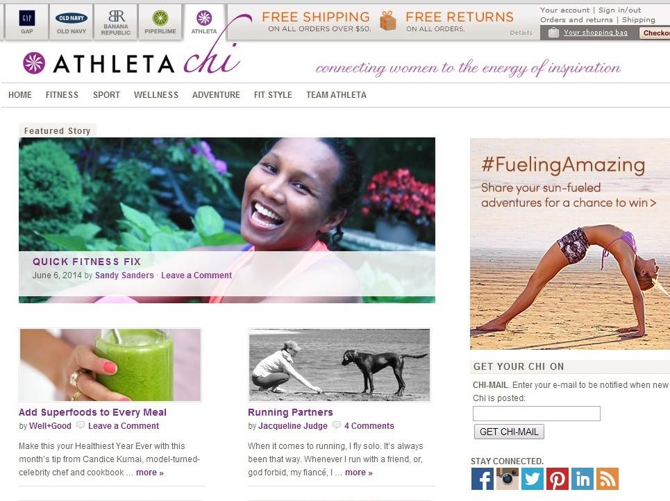 Athleta Chi Blog