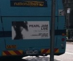 Pearl Jam on a bus in Australia