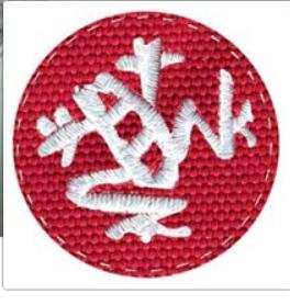 Textured fabric logo