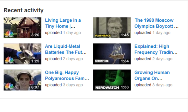 You Tube updates every day