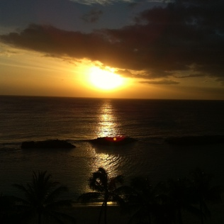 A Hawaiian Sunset, April 2012